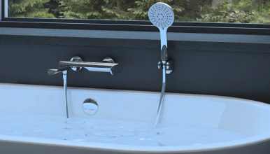 The new Ultra-10 (Sw) faucet with swivel spout - ideal solution for your shower and bath