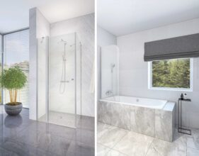 New In: shower enclosures, walls and doors